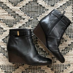 Cole Haan Wedge Heeled Booties Size 9